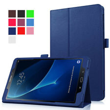 """Leather Folio Case Stand Cover For Samsung Galaxy Tab A 10.1"""" (2016) T580 T585"""