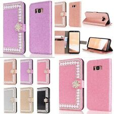 New Bling Pearl Crystal Diamond Wallet Card Phones Case Cover For Apple /SamSung