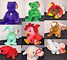 BUY TWO GET ONE FREE, PREOWNED TONS OF BEANIE BABIES RETIRED, YOUR CHOICE, RARE