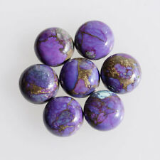 20MM Round Shape, Purple Copper Turquoise Calibrated Cabochons AG-237