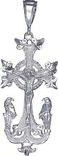 Sterling Silver Armenian Cross and Eagles Pendant Necklace with Chain