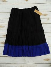 NEW Jon and Anna New York Accordion Pleated Stretchy Skirt Medium Assorted Color