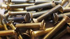 "4BA x 3"" SOLID BRASS SLOTTED COUNTERSUNK HEAD BA MACHINE SCREWS MODEL STEAM"