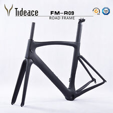 Aero T800 Carbon Matt Road Bike Frame Fork Seatpost Clamp Headset Cage PF30 OEM