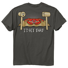 I'd Hit That! Men's Crab & Mallet T-Shirt - Maryland My Maryland - NEW