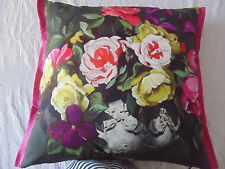 Designers Guild floral 100% Cotton Fabric Cushion Cover Rugosa Slate