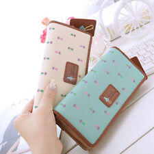 Women Synthetic Leather Wallet Lady Long Card Holder Handbag Bag Clutch Purse GP