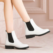 Women Chelsea Ankle Boots Slip On Low Heels Round Toe Sewing Velvet Shoes Ladies