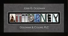 Personalized Art - Attorney Lawyer Alphabet Photography Letter Wall Art JATTR