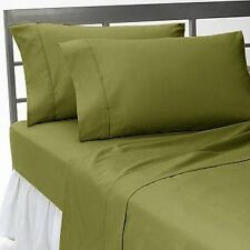 1000TC 100%EGYPTIAN COTTON DUVET COVER SET COLLECTION USSIZE MOSS SOLID