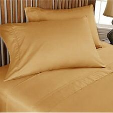 1000TC 100%EGYPTIAN COTTON DUVET COVER SET COLLECTION USSIZE GOLD SOLID