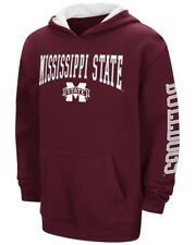 Mississippi State Bulldogs NCAA End Zone Pullover Hooded Youth Maroon Sweatshirt