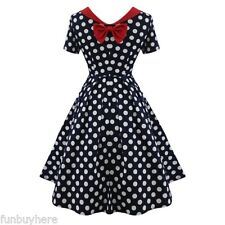 Vintage Women 1950S Retro Dress Stylish Rockabilly Pinup Party Cocktail Dress