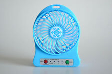 Mini Electric Fan USB Rechargeble Battery Operated Powered Hand Held Air Cooler