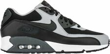 NIKE AIRMAX 90 TRAINERS MENS NEW STYLE BLACK LEATHER FABRIC UK SIZES