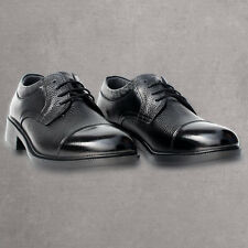 New Mens Black Slip On Leather Lined Formal Dress Lace up Shoes Size 6.5 ~ 10