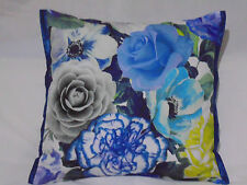 Designers Guild floral Fabric Pandora II Cobalt 100%Cotton  Cushion Cover