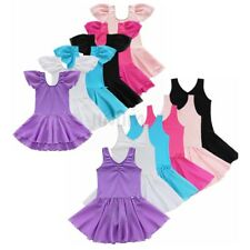 Toddler Girls Ballet Dress Kids Gymnastics Dance Dress Leotard Tutu Dancewear