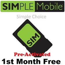 PRELOADED Simple Mobile SIM Card with $40 PLAN PRE-ACTIVATED