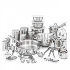 Pots and Pans Set 36 Pc Durable Stainless Steel Dishwasher Safe Kitchen Cookware