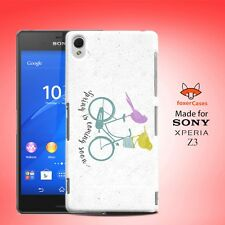 Cute Fun Classic Spring Birds on Bicycle Case Cover for Sony Xperia