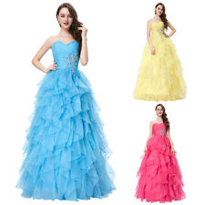 New Sweetheart Long Prom Formal Party Homecoming Dress Organza Bridesmaids Gowns