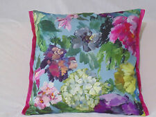 Designers Guild floral Fabric 100%Cotton Cushion Cover Roseto Celadon