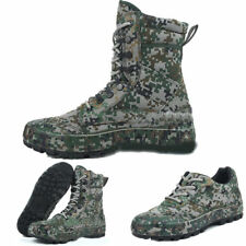 Mens high top hiking hunt non-slip camo shoes Outdoor Military Tactical boots11