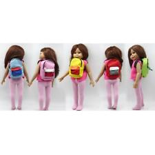Cloth Schoolbag Backpack for 18'' American Girl Our Generation My Life Doll ACCS