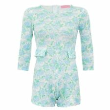 New Womens Celeb Inspired Flower Floral Print Mini Party Jumpsuit Playsuit Dress