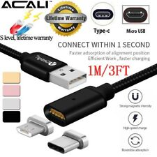 ACALI Magnetic Charger Type C USB-C Micro USB Fast Data Charge Cable magnet port