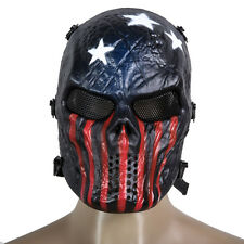 Skull Mask Costume Full Face Protection Airsoft Paintball Masquerade CS Cosplay