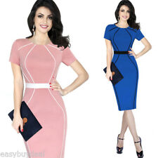 Women OL Formal Business Work Stretch Cocktail Party Evening Pencil Dresses plus
