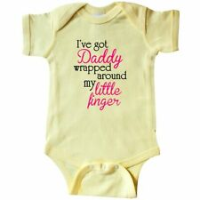 Inktastic I've Got Daddy Wrapped Around My Little Finger Infant Creeper Daughter
