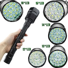 Police Tactical 80000Lumens 16x T6 LED 5Modes 18650 Flashlight Torch Lamp Light