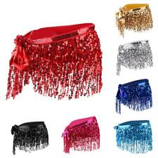 Sequins Tassel Belly Dance Indian Costume Waist Chain Hip Scarf Wrap Belt