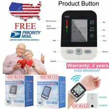 LCD Arm Electronic Blood Pressure Monitor Sphygmomanometer Heart Rate Meter UZM