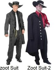 Black & White striped Zoot Suit Adult Costume by Charade New