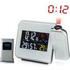 Digital Projection Alarm Clock Weather Station with Temperature Thermometer