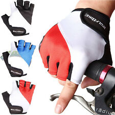 Cycling Bicycle Bike Motorbike Antiskid Gel Silicone Half Finger Glove Fingerles