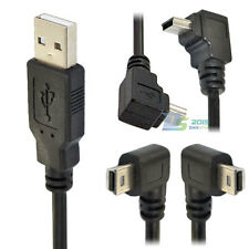USB 2.0 type A male to Mini B 5 pin right Left up down angle male cable adapter