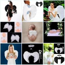US Adult Kid Baby Feather Angel Wings Costume Accessory Halloween Fancy Dress