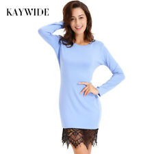 Long Sleeve Dress Tassel Women O Neck Casual Bodycon Party Wear Vestidos Sheath