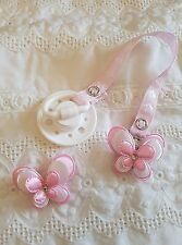 REBORN BABY DOLL~ BABY PINK & WHITE  ~ MAGNETIC ~DUMMY CLIP ~HAIR ACCESSORY