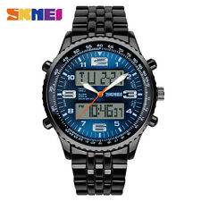 Dual Display Men Chrono Military Led Sports Calendar Waterproof Watch M97 New