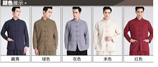 New red Traditional Chinese Men's cotton shirts jacket/Coat Size: M-XXXL