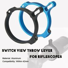 Tactical Switch View Throw Lever Ring Scope Mount for Hunting Rifle Scope B/Blue