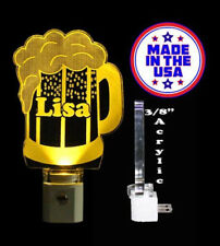 Beer Mug Acrylic Laser Engraved Personalized  LED Night Light