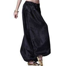 USA Yoga Belly Dance Costume Indian Dance Satin Trousers Tribal Bloomers Pants