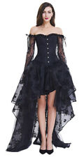 Steampunk Gothic Lace Long Sleeves Off Shoulder Halloween Wedding Party Corset